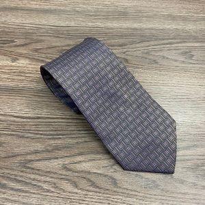 Luciano Barbera Purple & Green Check Tie